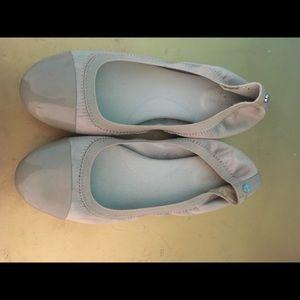 Calvin Klein nude ballerinas size 8